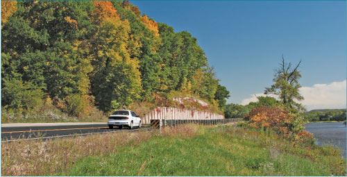 Photo of the Lower Wisconsin River Road